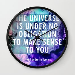 Neil deGrasse Tyson Inspired - Universe Cell Print Wall Clock