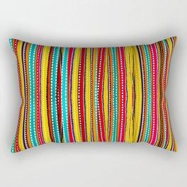 Colored Alignment Rectangular Pillow