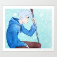 jack frost Art Prints featuring Jack Frost by ribkaDory