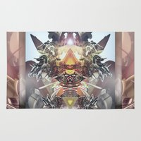 transformer Area & Throw Rugs featuring Avenging Angel by Andre Villanueva