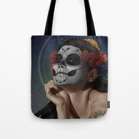skulls Tote Bags featuring Skulls by Joifish