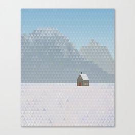 TriScape 5.0.1 - Snowy Mountains Canvas Print