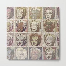 Watch This Space gallery - Signature Beige Fame Marilyn Metal Print