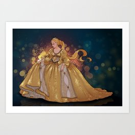 Colour of the sun Art Print