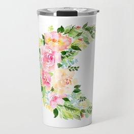 Crescent Bloom Travel Mug