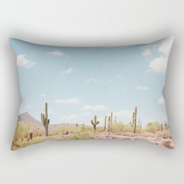 Saguaros in the Desert Rectangular Pillow