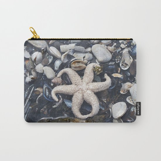Starfish and Shells Carry-All Pouch