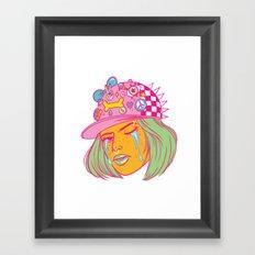 Tough Girl Framed Art Print