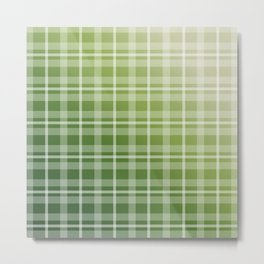 Olive Green Stripes Metal Print