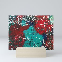 Abstracted Wolf and Kitten Mini Art Print