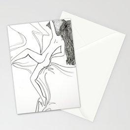 Blissfully Sleeping Naked Stationery Cards