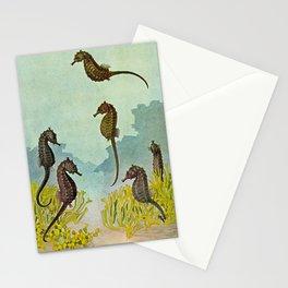 Hippocampus - Hashime Murayama - 1920 Seahorse Illustration Marine Life Stationery Cards