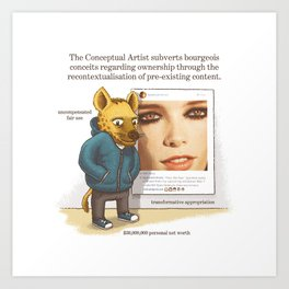 The Conceptual Artist Art Print