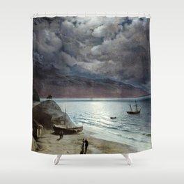 Ivan Aivazovsky - Night at Gurzof Shower Curtain