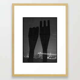 Mysterious Monument with Snow 1 Framed Art Print