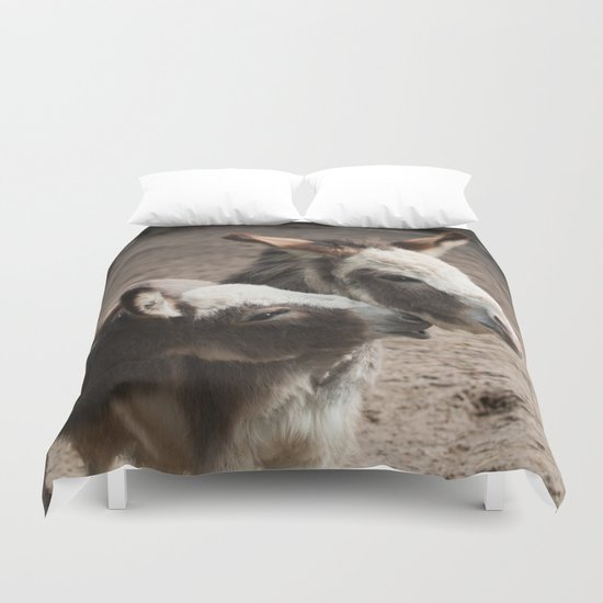 The donkeys Duvet Cover