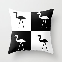 Hate in Black and White Throw Pillow