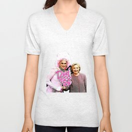 Arial & Hillary: Drag Out the Vote Unisex V-Neck