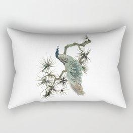 Turquoise Peacock Rectangular Pillow