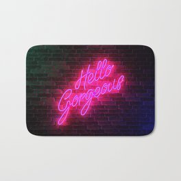 Hello Gorgeous - Neon Sign Bath Mat