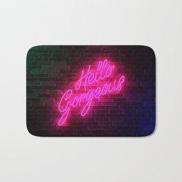 Hello Gorgeous - Neon Sign Bath Mat