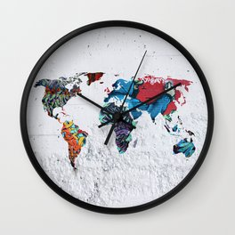 map of the world  Wall Clock