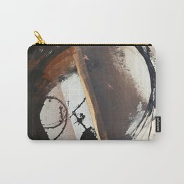Midnight Falling: a bold, abstract, mixed media piece by Alyssa Hamilton Art Carry-All Pouch
