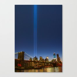 City Lights Vertical  Canvas Print