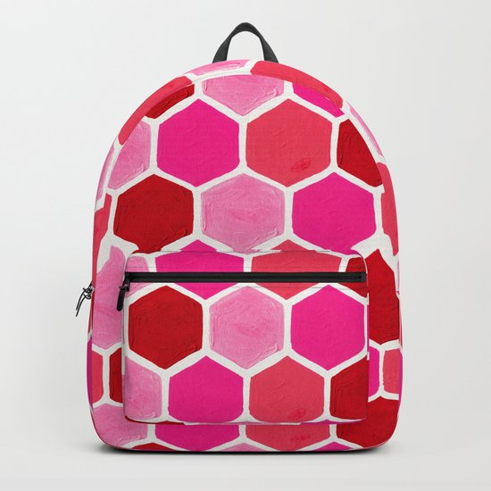 Hexagon Honeycomb Pattern – Valentine Palette by catcoq