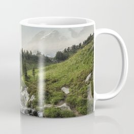 Early Evening Light on Mount Rainier above Edith Creek Coffee Mug