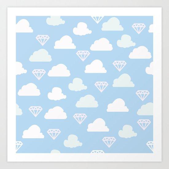 In the sky with diamonds Art Print