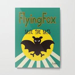 Save the Bats Metal Print
