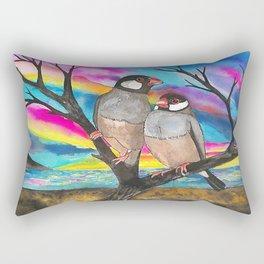 Java sparrow Rectangular Pillow