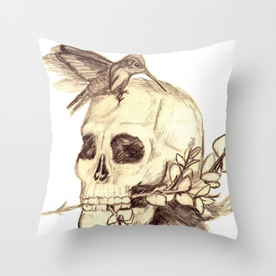 flying away with the time Throw Pillow