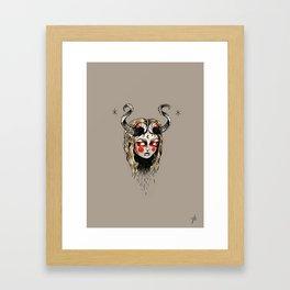 KrampusGirl Framed Art Print