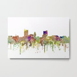 Fort Wayne, Indiana Skyline Metal Print