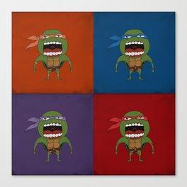 Screaming Turtles Canvas Print