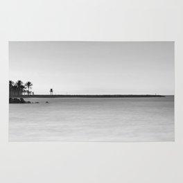 Palms beach and lifeguard towers Rug
