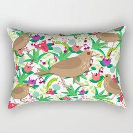 Birds singing in Rainy Season Rectangular Pillow