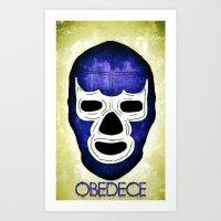 Blue Demon: OBEDECE Art Print