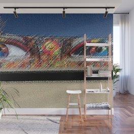 "Black Rock City Festival Graffiti ""Eyes"" Sculpture Painting by Jeanpaul Ferro Wall Mural"