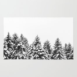 White Snow Forest No1 Rug