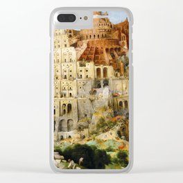 The Tower Of Babel Clear iPhone Case