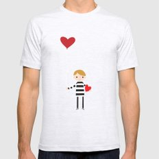 Love is in the Air - Boy Mens Fitted Tee SMALL Ash Grey