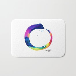 Enso Of Zen No. 16 by Kathy Morton Stanion Bath Mat
