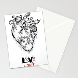 Heart Of Hearts: Outline & Stuff Stationery Cards