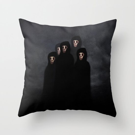 The meeting. Throw Pillow