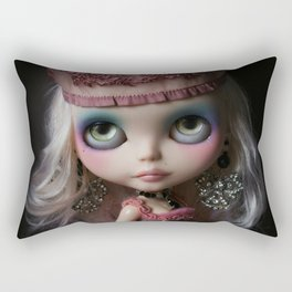 Pink Custom Blythe Darling Diva Art Doll Rectangular Pillow
