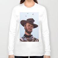 clint barton Long Sleeve T-shirts featuring Clint by Mark Hammermeister
