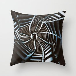 Twisted Cyberpunk Tunnel Throw Pillow